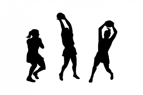 netball player catching ball  example image 1