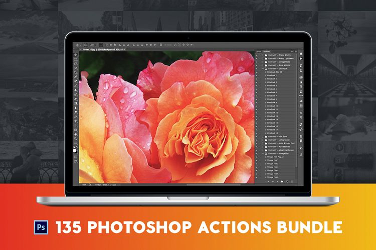 135 Pro Photoshop Actions Bundle example image 1