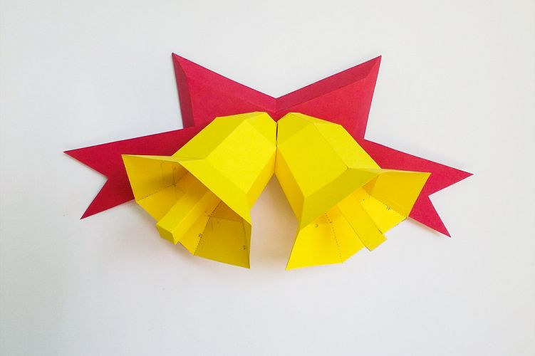 DIY Christmas Bells - 3d papercraft example image 1