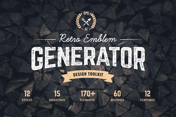 Logo Maker | Retro Emblem Generator example image 1