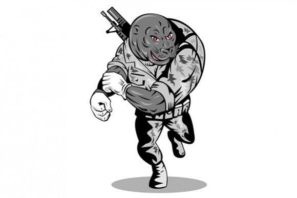 Alien Military Running example image 1