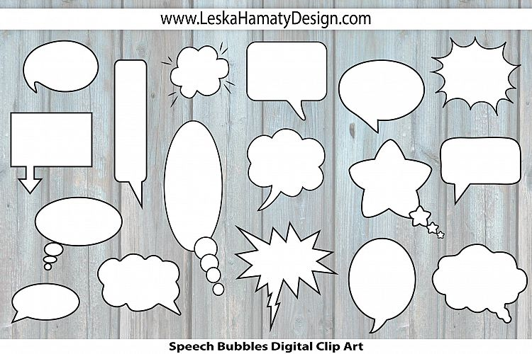 Speech Bubbles Clip Art example image 1
