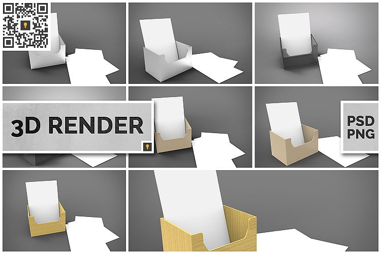 Flyer Holder 3D Render example image 1