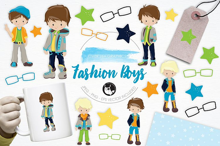 Fashion Boys graphics and illustrations example image 1