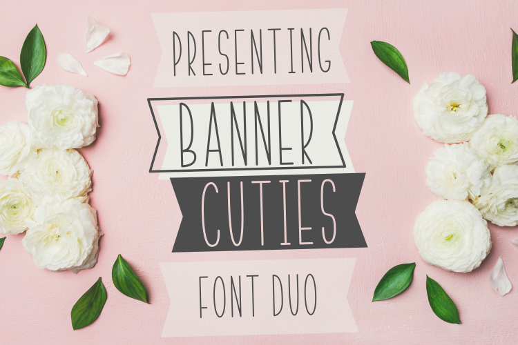 BANNER CUTIES - Font Duo example image 1