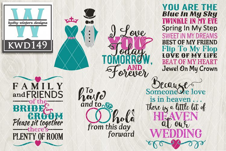 Wedding Cutting File KWD149 example image 1