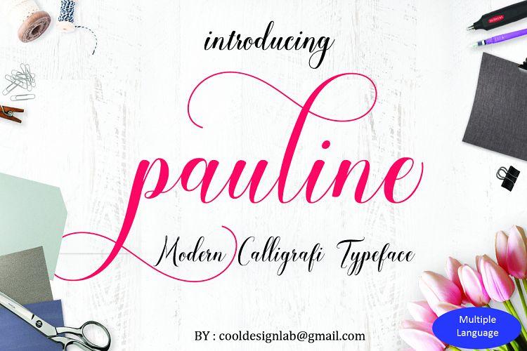 Pauline script 30 OFF example image 1