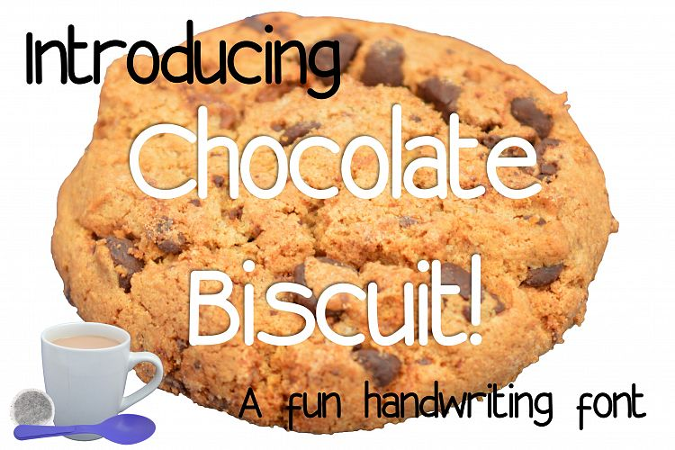 Chocolate Biscuit Font. example image 1