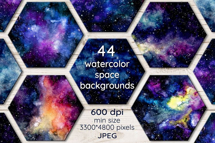 Space Backgrounds Set example image 1