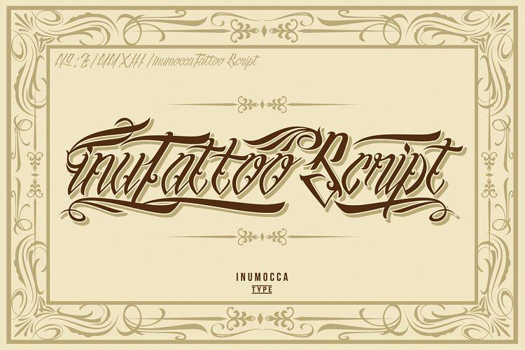 InuTattoo Script Poster Vector By Inu