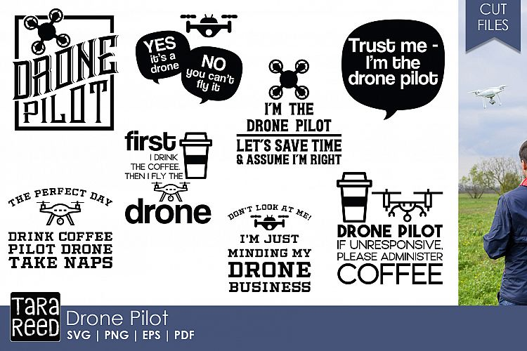 Drone Pilot SVG and Cut Files for Crafters