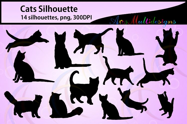 Cat silhouette svg / EPS / Svg / Dxf / Png / vector kitten / kitten silhouette / printable cat silhouette / svg cutting files / Kitty example image 1