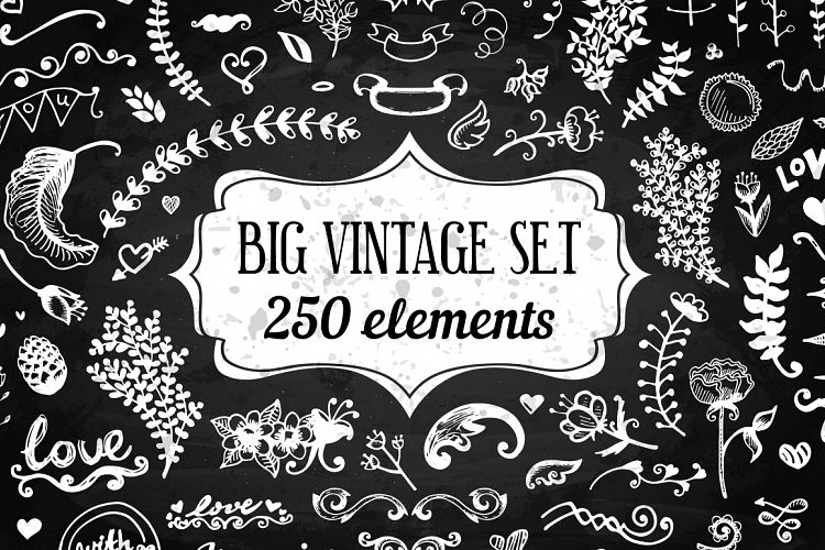 250 Elements - Big Vintage Set example image 1