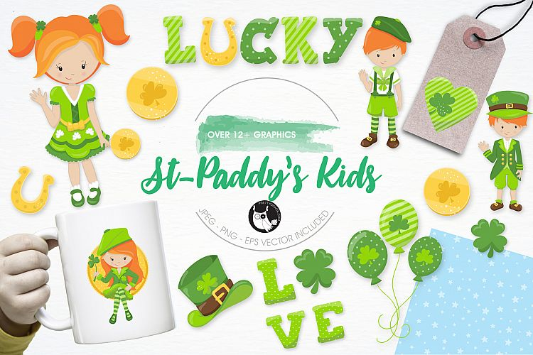 St. Paddy's Kids graphics and illustrations example image 1