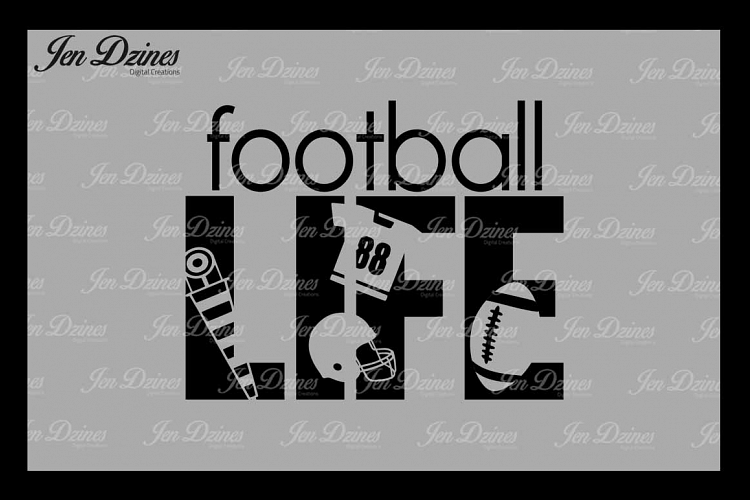 Football Life SVG DXF EPS PNG example image 1