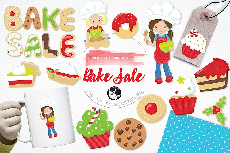 Bake Sale  graphics and illustrations example image 1