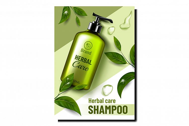 Herbal Care Cosmetic Promotional Poster Vector example image 1