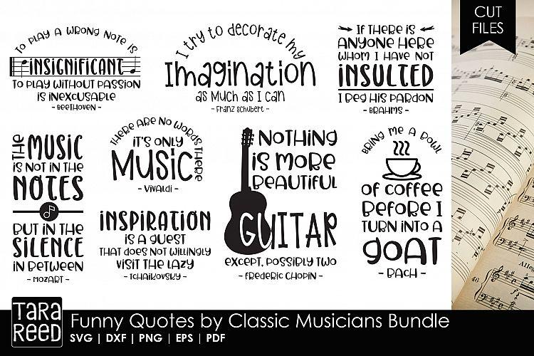 Funny Quotes By Classic Musicians Bundle 107846 Cut Files Design Bundles