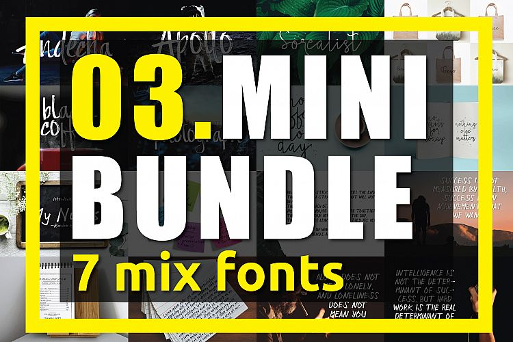 03. MINI BUNDLE - 7 mix fonts example image 1