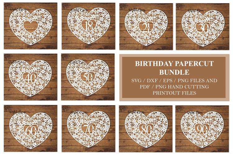 Birthday / Anniversary design bundle  SVG / DXF / EPS / PNG