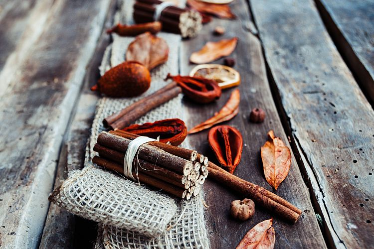 Potpourri dried fruits over wood example image 1