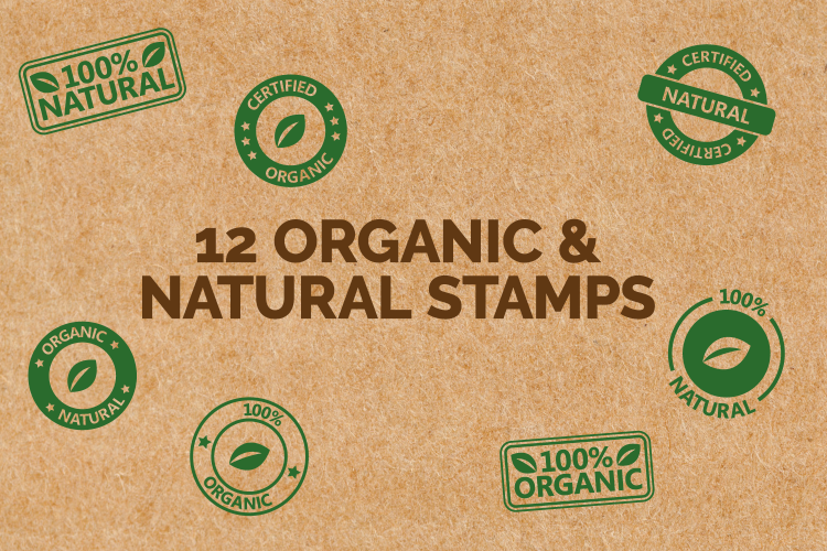 Natural & Organic Stamp Icons example image 1