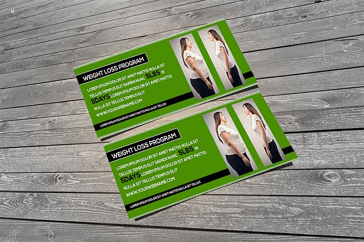 Weight Loss Program Voucher By Pro Desi Design Bundles