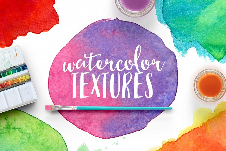 WATERCOLOR TEXSTURES VOL.1 example image 1