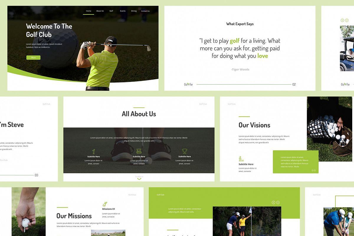 Golfie Golf Powerpoint Presentation example image 1