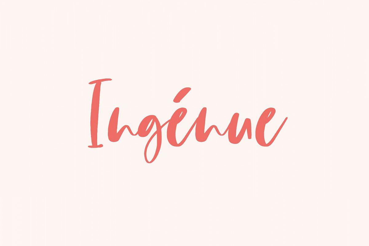 Ingénue Font example image 1