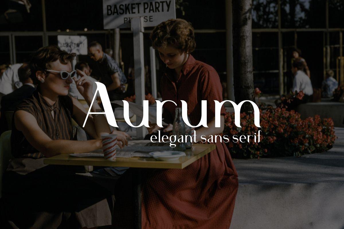 Aurum. Elegant Sans Serif typeface. example image 1