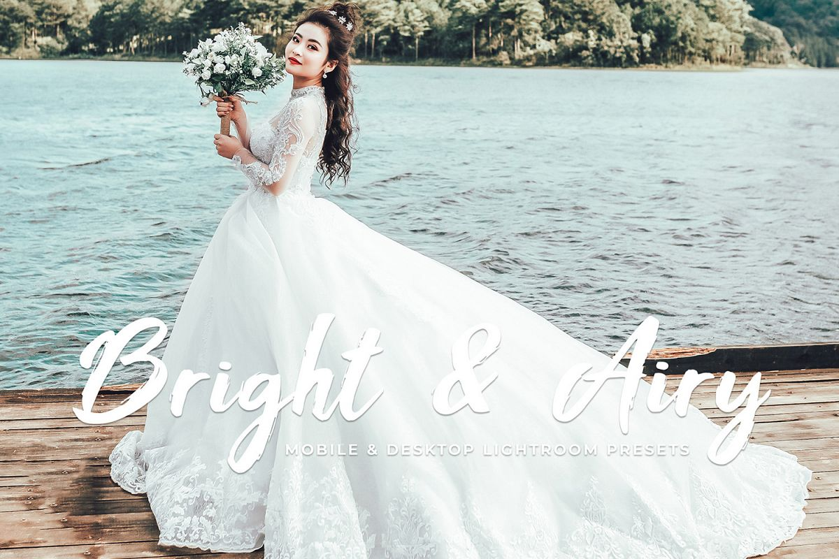 Bright & Airy Mobile and Desktop Lightroom Presets example image 1