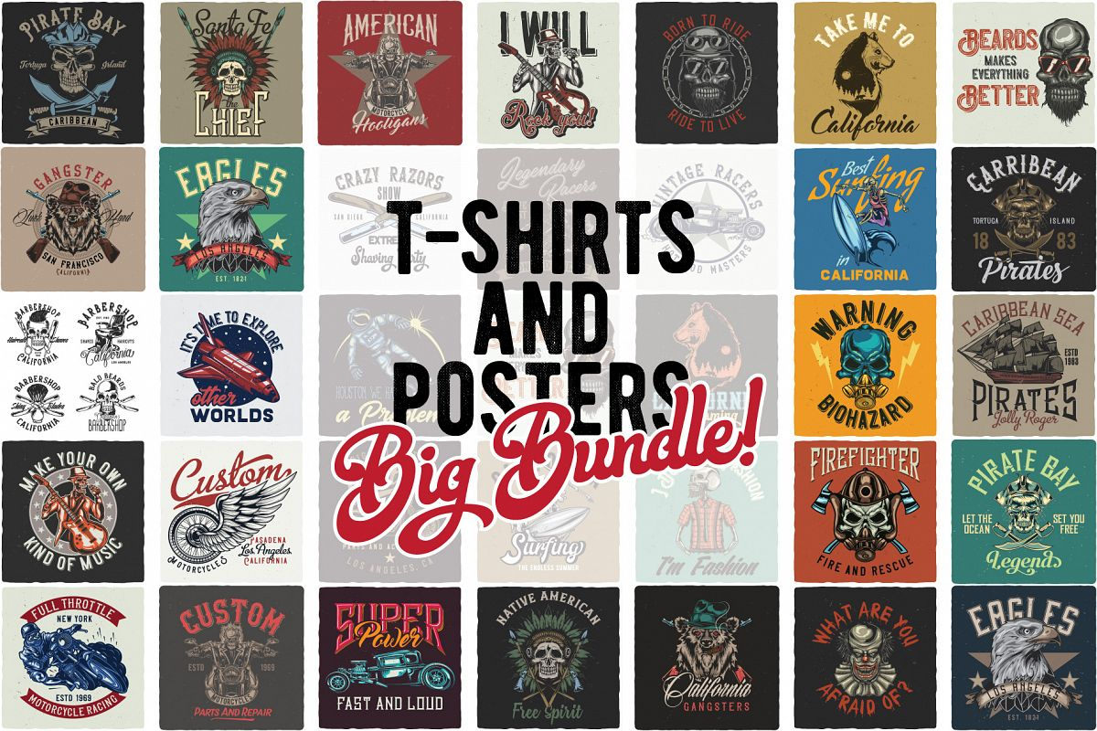 T-shirts and poster bundle Free Download