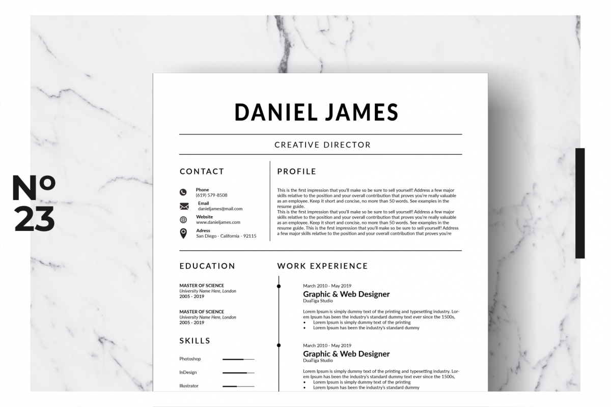 Resume Template Vol. 14 example image 1