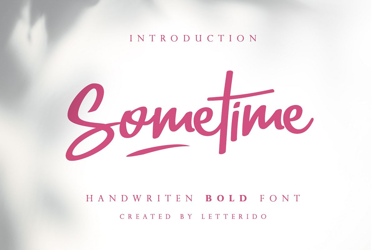 Sometime Handwritten Bold Font example image 1