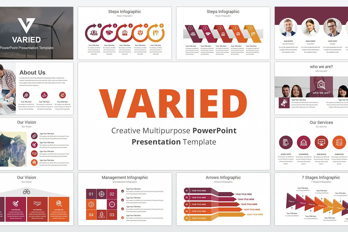 Varied multipurpose PowerPoint Presentation Template example image 1