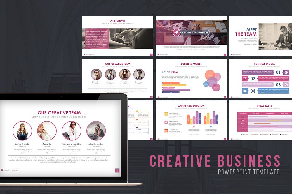 Creative Business Powerpoint Template example image 1