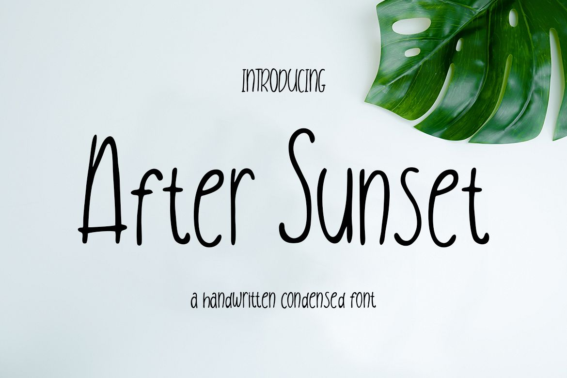 After Sunset Handwritten Condensed example image 1