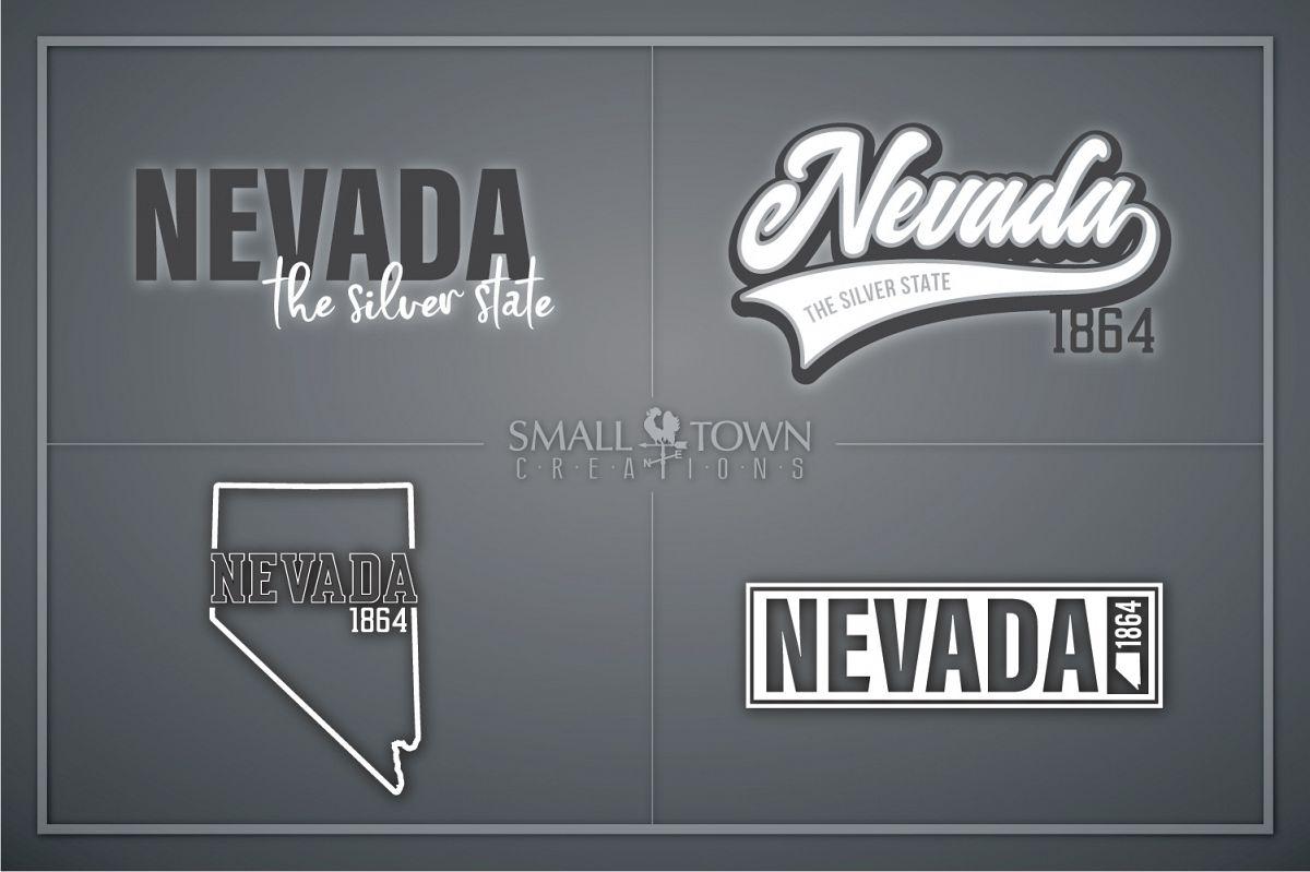 Nevada, The Silver State - slogan, Logo, PRINT, CUT & DESIGN example image 1