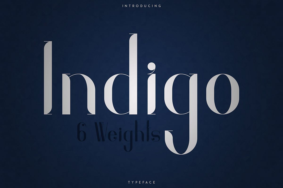Indigo Typeface - 6 Weights example image 1