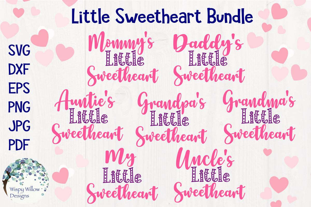 Little Sweetheart SVG Bundle | Valentine's Day SVGs example image 1
