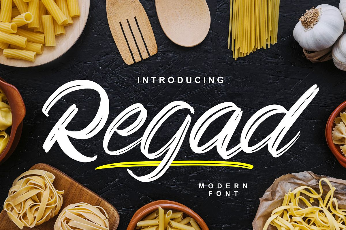 regad   Modern Food Font example image 1