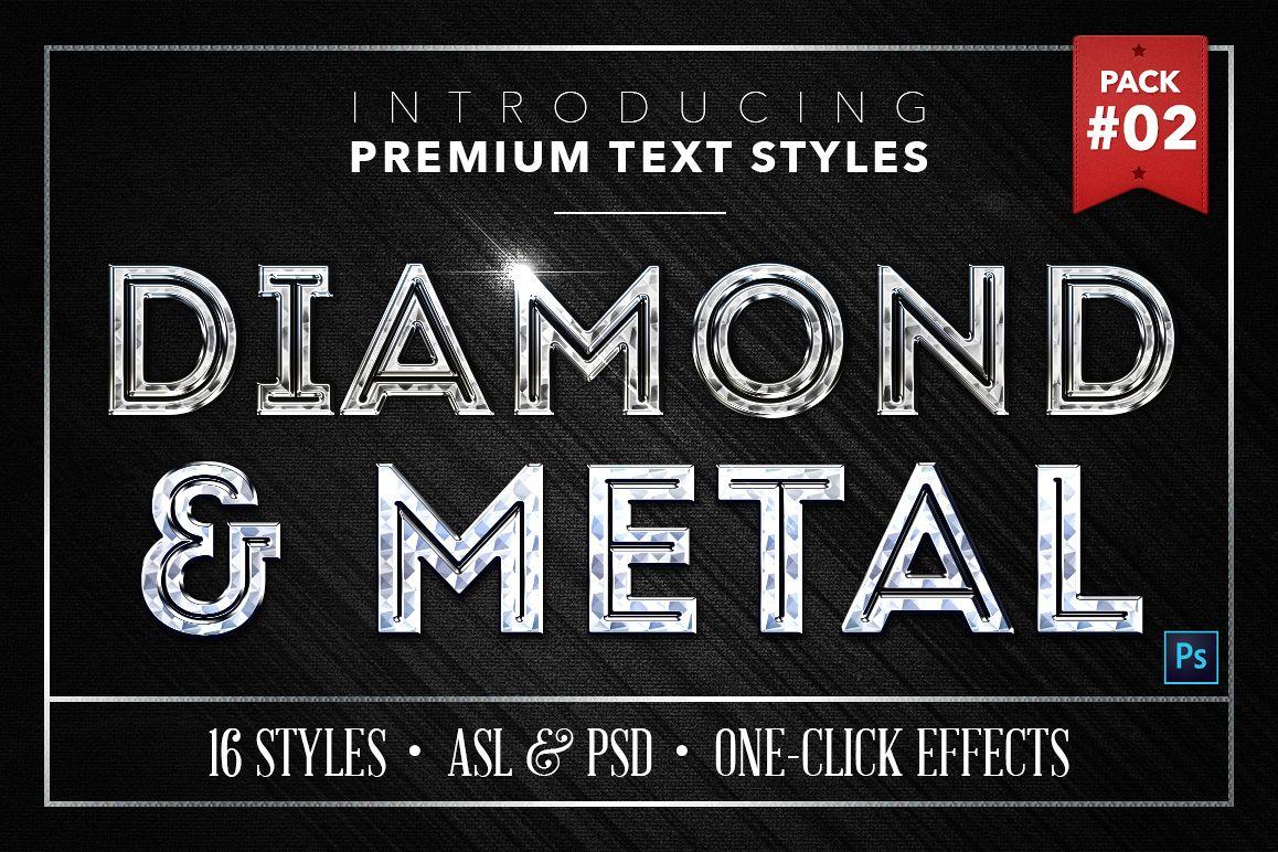 Diamond & Metal #2 - 16 Text Styles example image 1