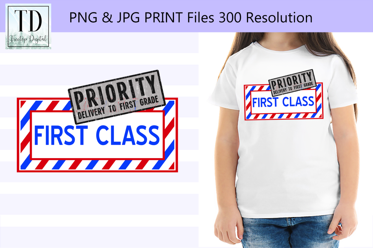 First Grade First Class, A Back to School Sublimation Design