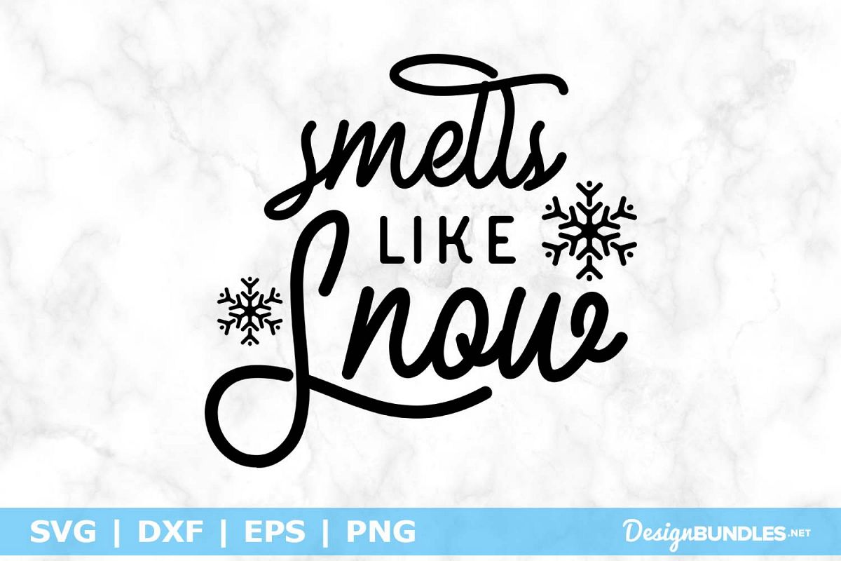 Smells Like Snow SVG File example image 1