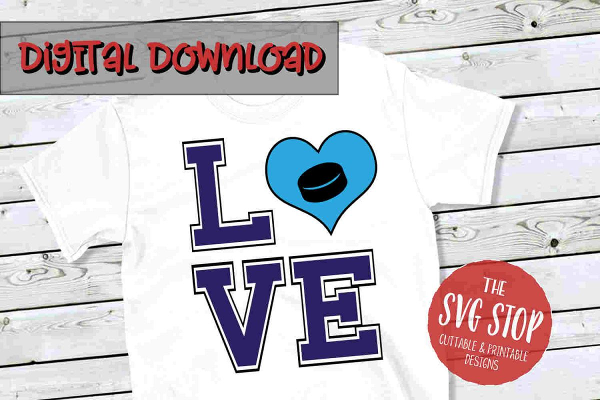 Love Hockey 3-SVG, PNG, DXF example image 1