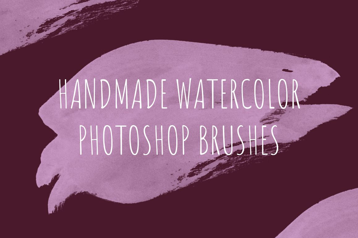 68 handmade watercolor PS brushes example image 1