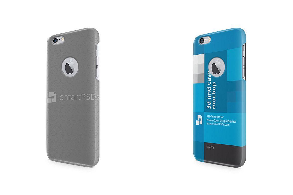 Apple iPhone 6s Logo Cut 3d IMD Mobile Case Design Mockup 2015 example image 1