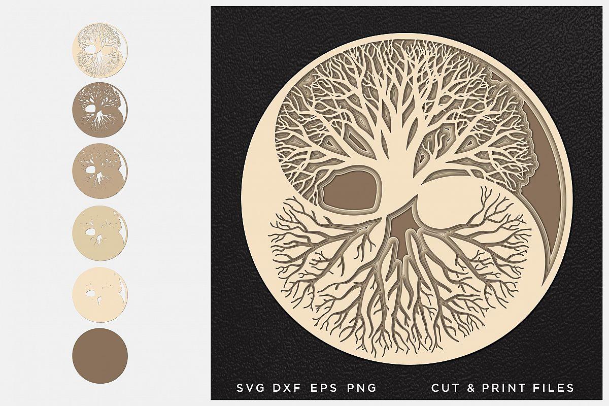 Download Tree of Life svg, Cut file Mandala, Multilayer, Layered svg