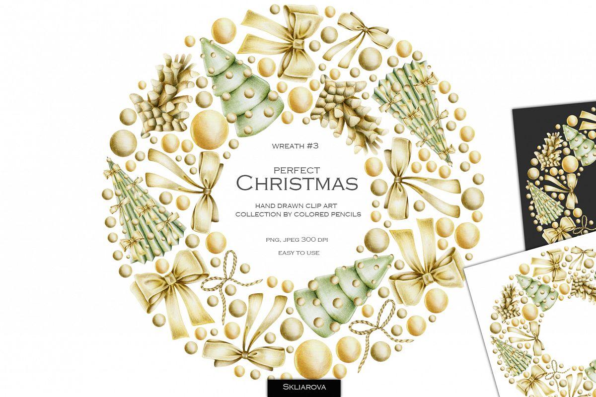 Perfect Christmas. Wreath #3 example image 1